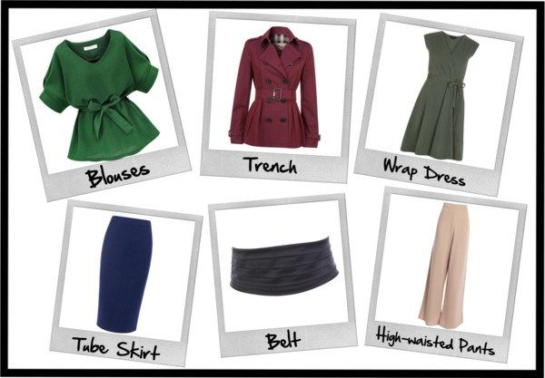 The Hourglass Figure's Wardrobe. What should hourglass figures always have in their wardrobes?