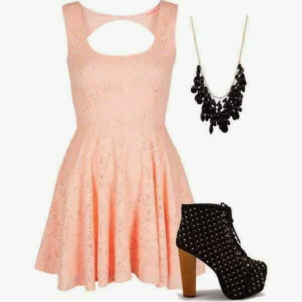 Wonderful Polyvore Outfits in Baby Pink  2015