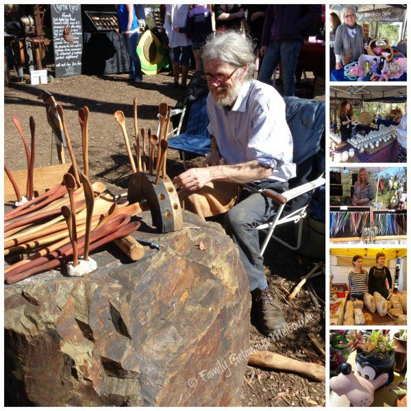 The Wooden Spoon Man and other Stalls at St Andrews Market