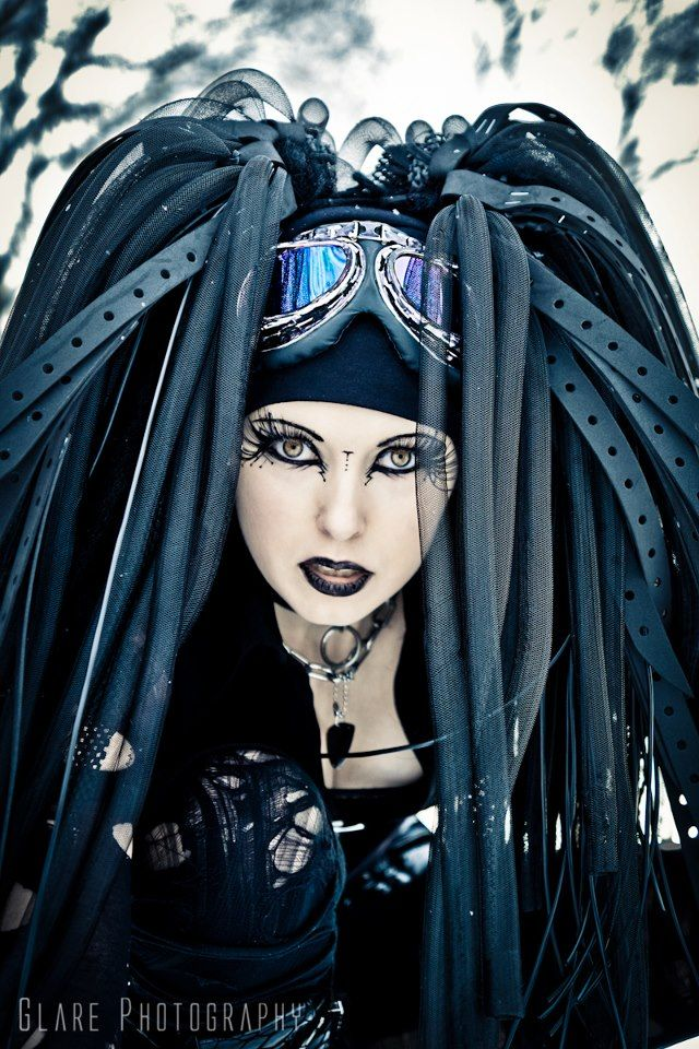 #Cybergoth girl and falls by Glare photography