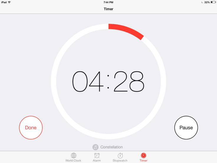 iOS 7 Spotlight: Timer -> There are great timer apps for the iPad that help students practice their stamina and pacing while reading, and can help teachers manage a classroom.  With the iOS 7 update, the iPad clock has a timer with a great visual that shows how much time has progressed (similar to the Hourglass Timer).  You can even change the sounds to one of the new I iPhone ringtones!