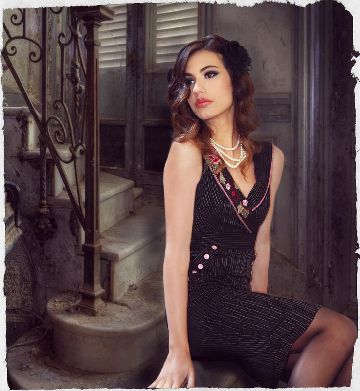 Black Coffee Collar Dress