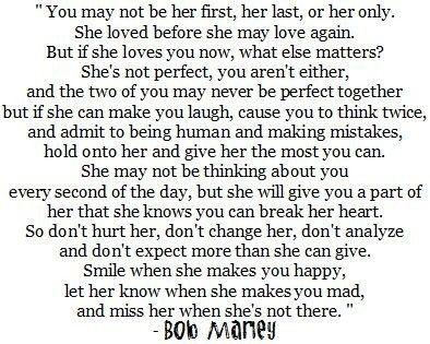 Bob Marley über die Liebe