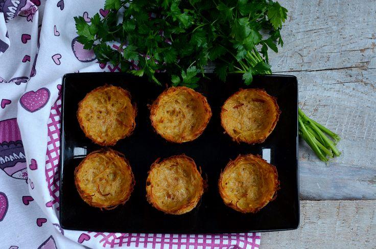 Pieczone placki ziemniaczane - Niebo na talerzu
