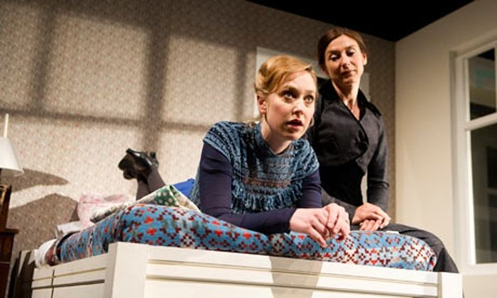 Hattie Morahan and Susannah Wise in A Doll's House at the Duke Of York's Theatre in London