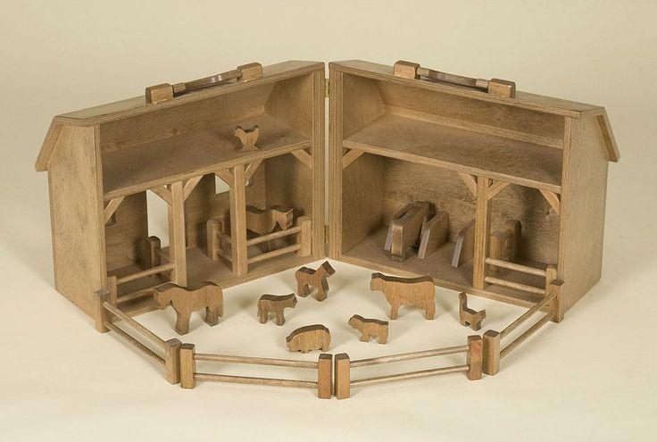 Amish Selections, LLC - Wooden Folding Toy Barn and Farm Animal Set   Amish Toys, $109.95 (http://www.amishselections.com/wooden-folding-toy-barn-and-farm-animal-set-amish-toys/)