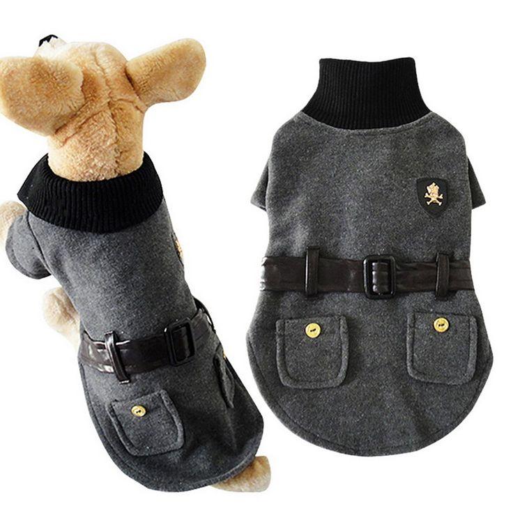 Venta caliente elegante pequeño gato del animal doméstico ropa para perros ropa de invierno abrigo de paño de lana y vestido NVIE(China (Mainland))