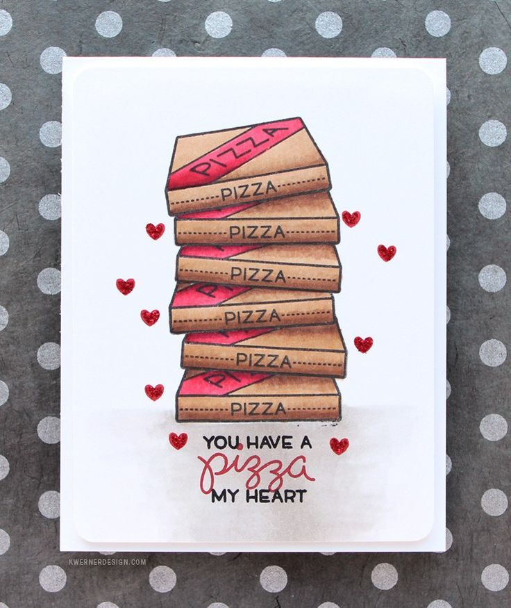 You Have a Pizza My Heart (NEW Lawn Fawn). Check out the video for this card at Kristina Werner's blog!