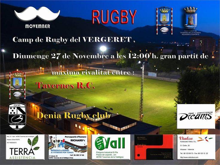 Partido al rojo vivo entre Tavernes R.C y Denia Rugby Club