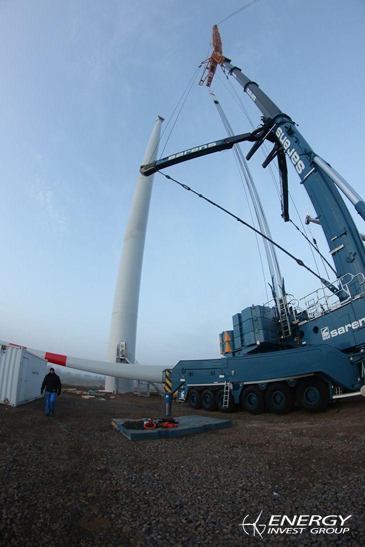 W Moszczenicy zakończył się właśnie montaż nowych turbin wiatrowych firmy Leitwind LTW86. Aktualności Energy Invest Group.