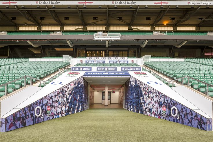 The famous 'Players Tunnel' leading to the England changing rooms #Events #Rugby #Englandrugby