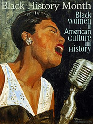 The Origins of Black History Month: Black History Month poster of Billie Holiday.