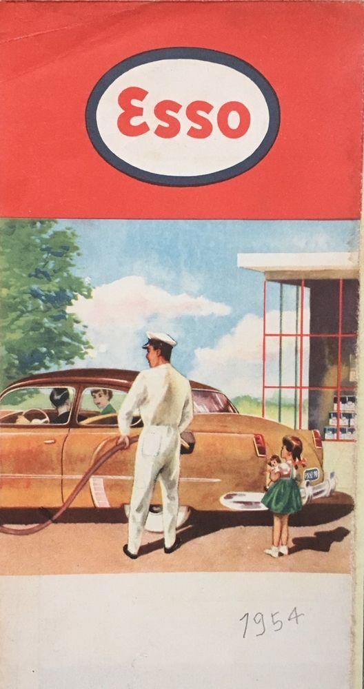 1954 Holland road map Nederland wegenkaart