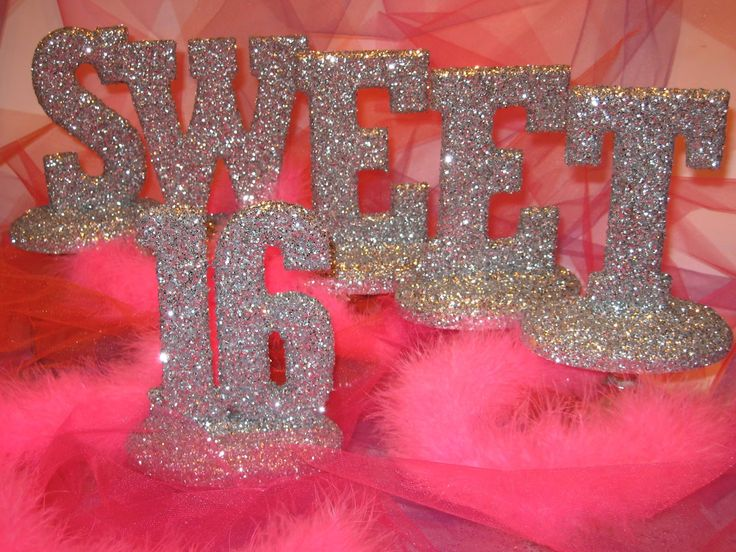 sweet 16 birthday party ideas girls for at home | Sweet Sixteen also on a stand or as a banner