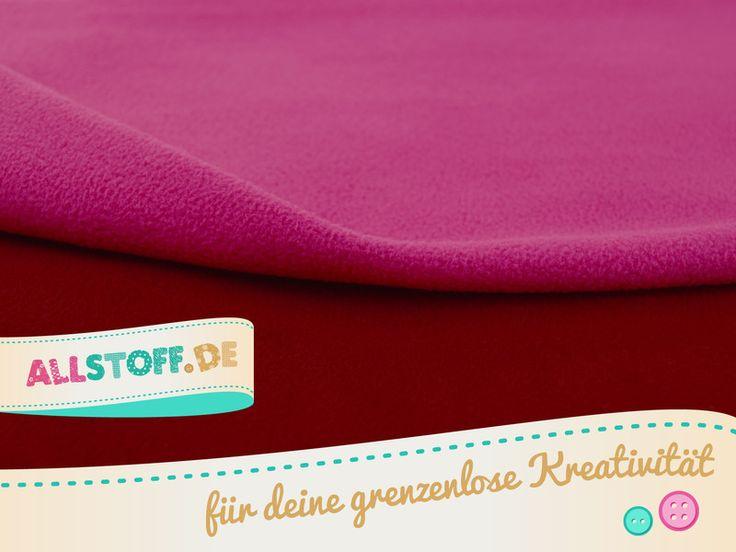 Stoffe uni - Double Fleece rot pink - ein Designerstück von AllStoff bei DaWanda