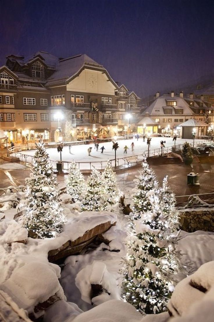 The magical Beaver Creek Ice Rink in one of Colorado's coziest ski towns.