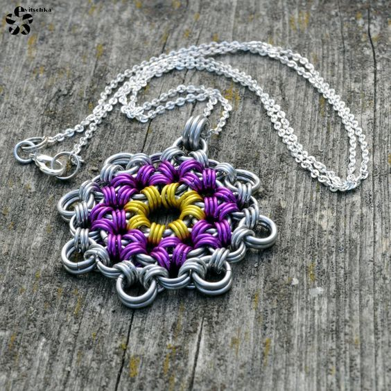 Chainmaille flower by Jezerel