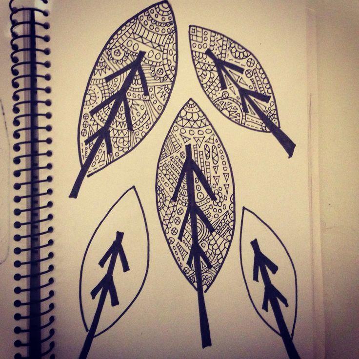 Pattern leaves. Sketching
