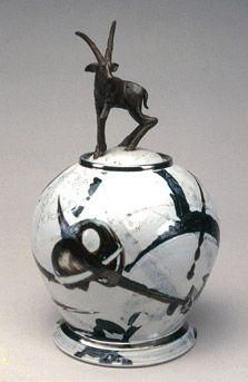 Antelope Jar - glazed porcelain - Adrian Saxe