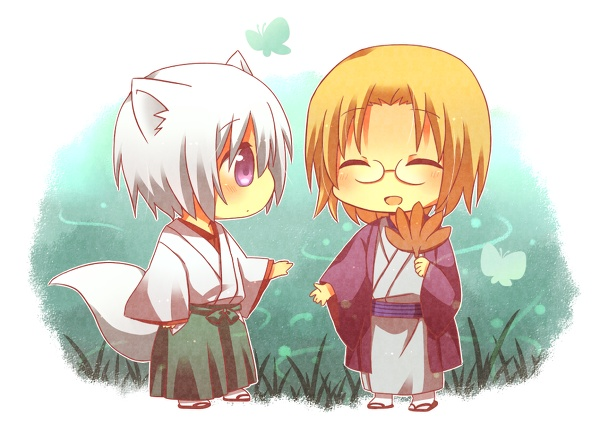 Kamisama Hajimemashita - Chibi Tomoe and Chibi Mikage