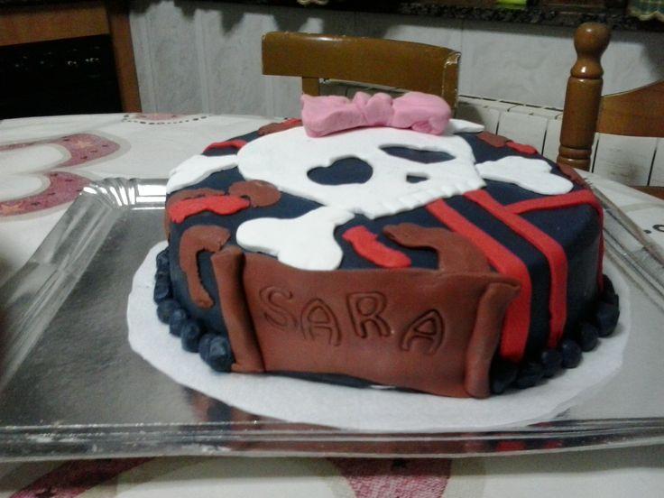 Rainbow velvet cake #fondantcakes #pirates #cakes #delicious