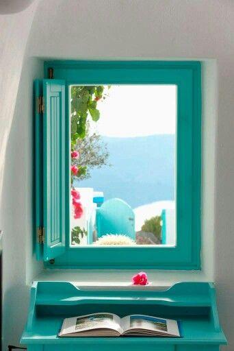 Morning :) Santorini, Greece.  Source: https://m.facebook.com/purespiritt/