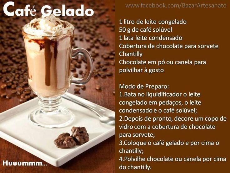 Receitinha de café gelado