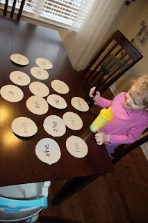 Site Word Pancakes ~ call out a word child flips it over with spatula