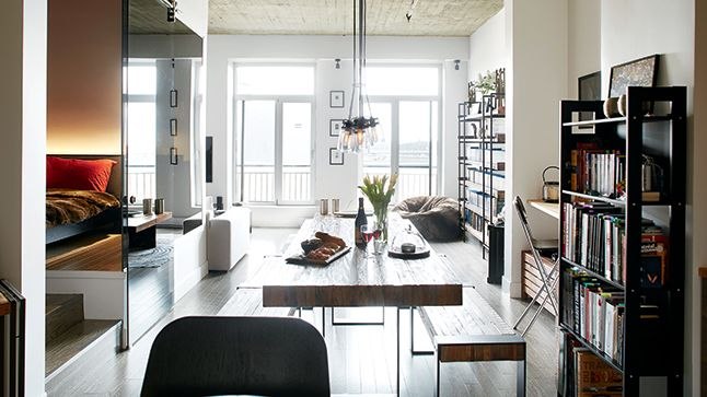 Un loft au look industriel