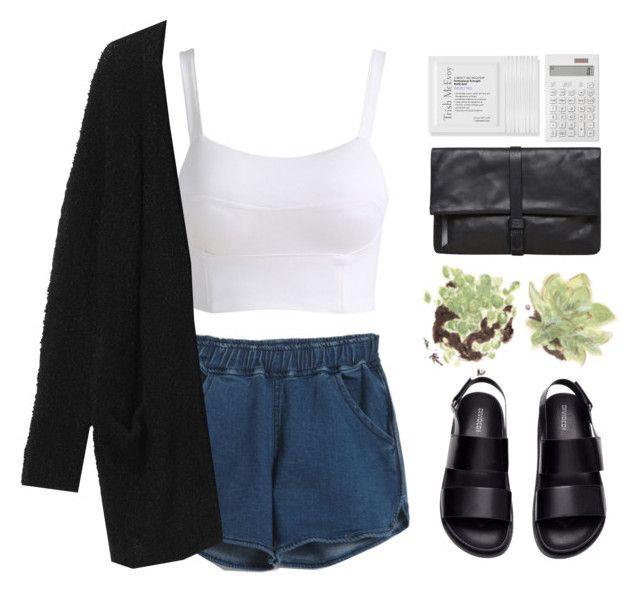 // http://www.polyvore.com/cgi/group.join?id=162244 by unicornskitkat on Polyvore featuring polyvore, fashion, style, Monki, H&M, Maison Margiela, Trish McEvoy and Muji