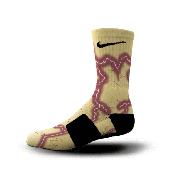 FSU Basketball.  Florida State Storm Socks at HoopSwagg.com.  Go Seminoles!