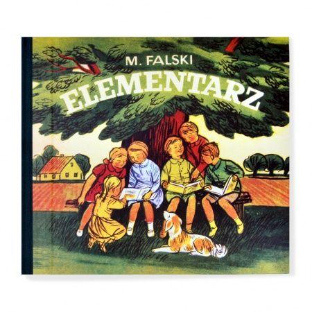 """Reprint """"Elementarza"""" Mariana Falskiego z 1971 roku, który w różnych postaciach prawie przez sto lat towarzyszył pokoleniom siedmiolatków w ich pierwszej drodze do szkoły."""