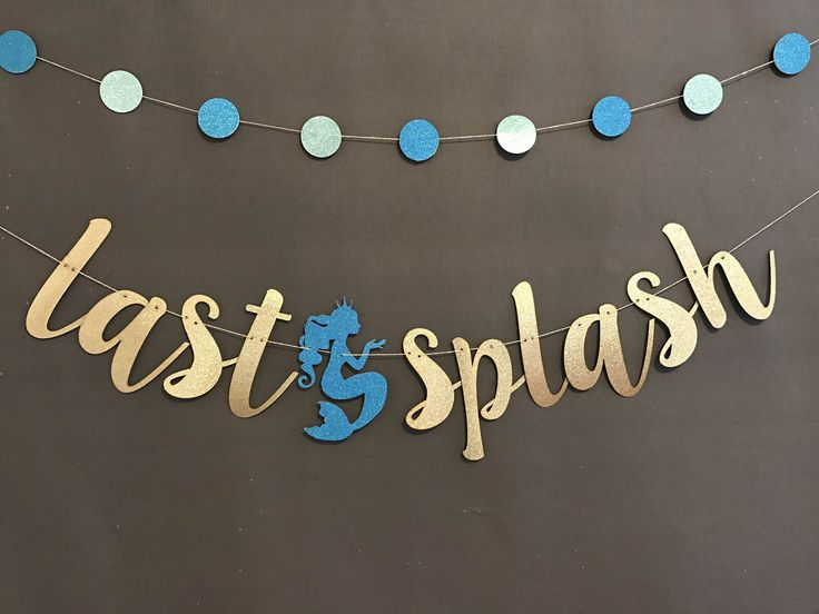 Mermaid Bachelorette Party Banner, Glitter Banners, Bachelorette Decorations, Mermaid Wedding Banners, by UrEnvitedToo on Etsy https://www.etsy.com/listing/521605955/mermaid-bachelorette-party-banner