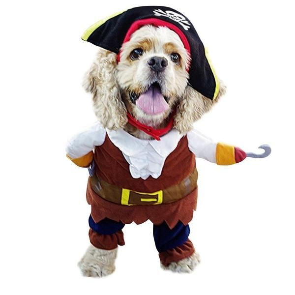 2016 Caribbean Pirate Dog Funny Pet Clothes Costume
