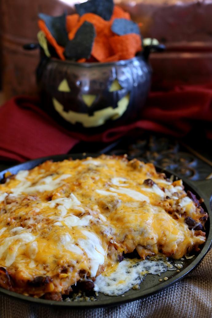 Hot Cheesy Enchilada Dip
