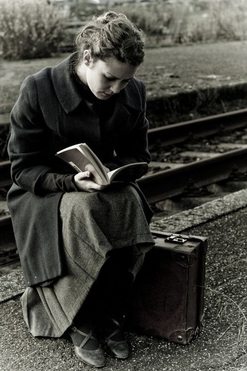 This might could be me, sitting on my suitcase, by the tracks, waiting for the train to Whoknowswhere...