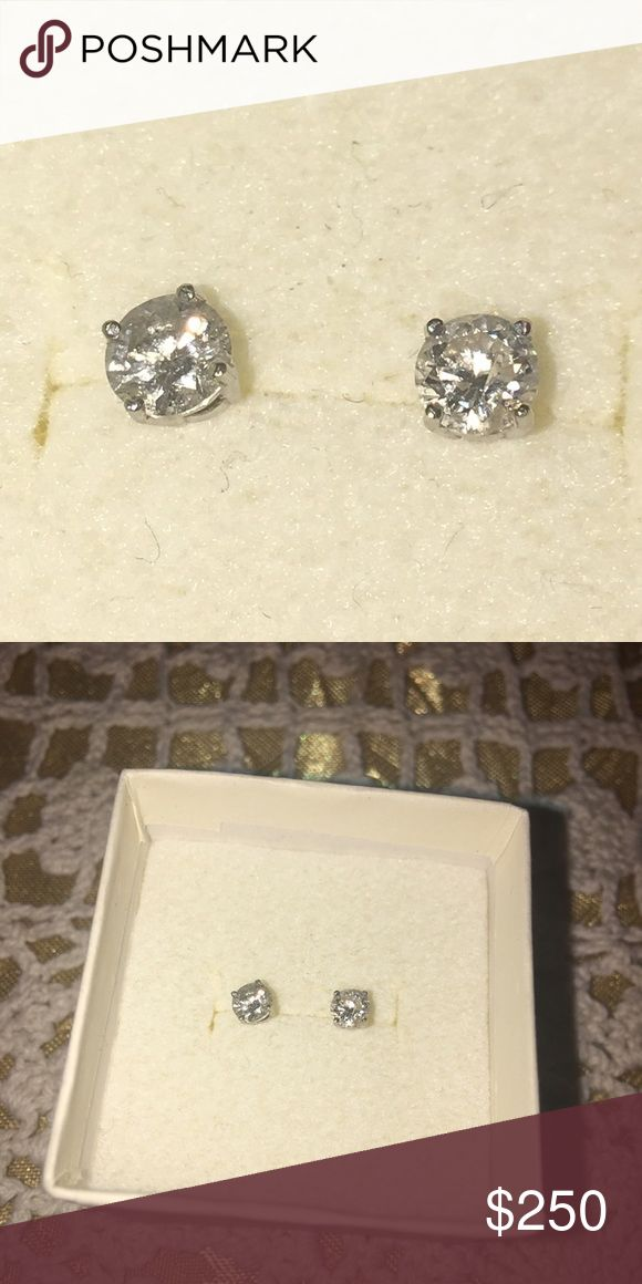 Diamond studs Natural diamonds great color about .10 each they r small but very beautiful Jewelry Earrings
