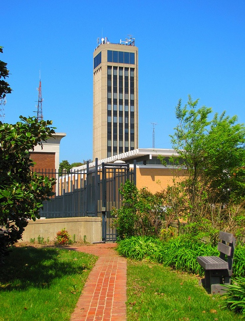 View Of Hirsch Tower From The May Green Garden In Cape Girardeau Missouri By Eridony
