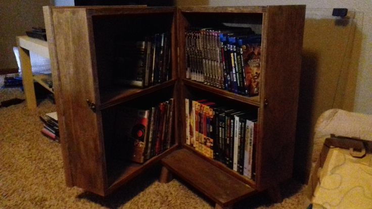 Movie Storage Disguised As Wooden Speaker Box Click To See The