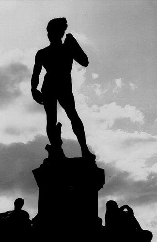 Michelangelo David in Florence #dailyshoot #Michelangelo #leshaines One of the most famous statues in the world, this one overlooking the town of Florence in Italy. Decided to keep this as a silhouette to try and be a bit more original, and kept slightly off balance with cropping. Michelangelo statue of David.