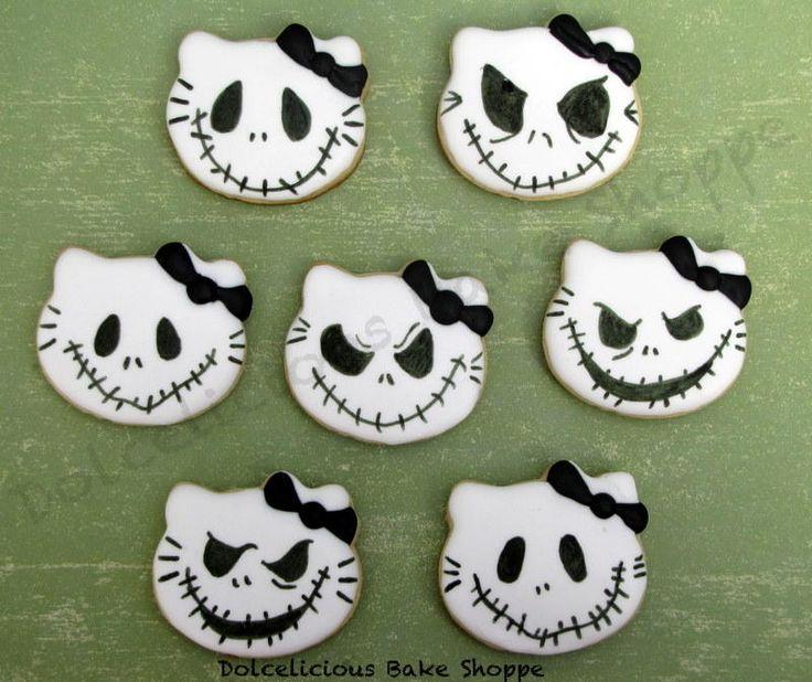 221 best halloween images on Pinterest Decorated cookies, Cookies - hello kitty halloween decorations