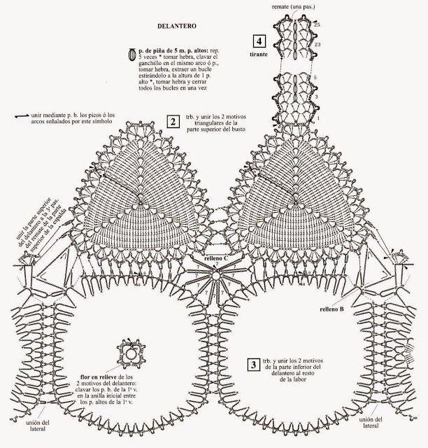 Tops en crochet (Patrones) | top | Crochet, Crochet patterns y ...