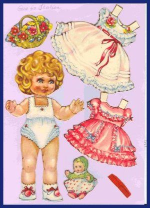 Ingrid Molzen. PDsamler. Online Interest Group on paper dolls. Gina from Italy. Series of 8 different countries