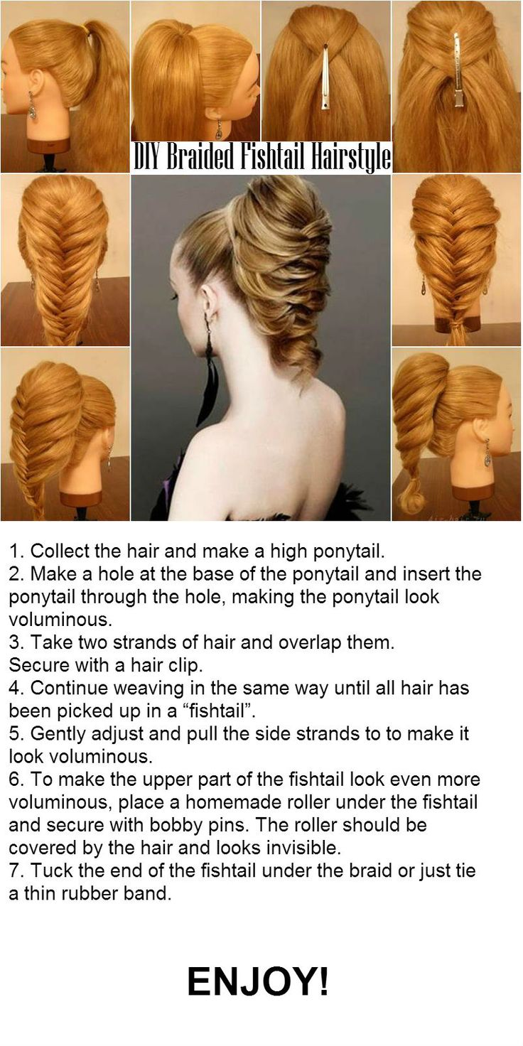 DIY Braided Fishtail Hairstyle | http://www.iluvdiy.com/diy-braided-fishtail-hairstyle