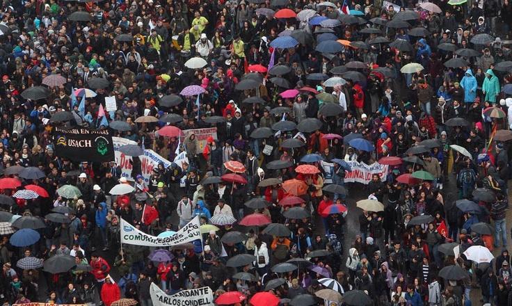 Marcha para exigir la gratuidad de la educación