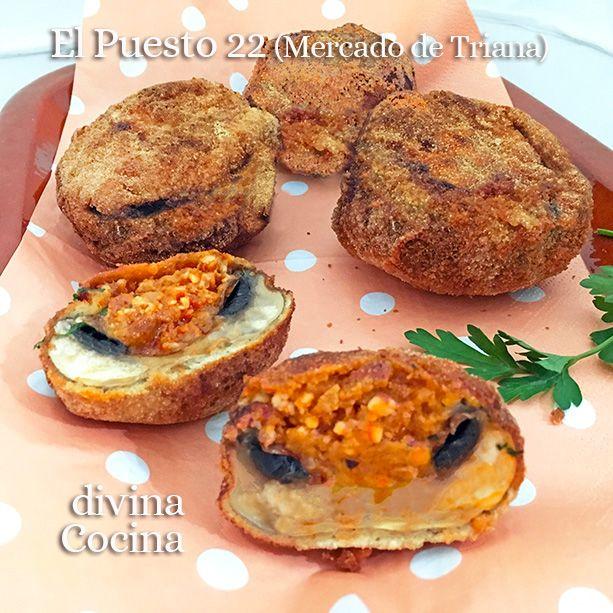 Estos champiñones rellenos empanados se preparan con ingredientes a tu gusto y se sirven calentitos, como una especie de croqueta diferente y especial.