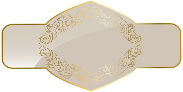 Cream Luxury Label Template PNG Clipart Picture