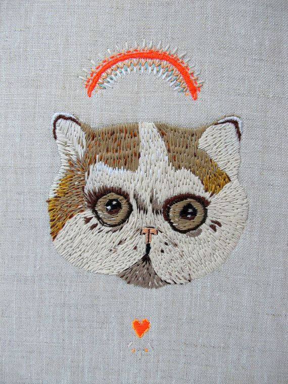 embroidery kitty