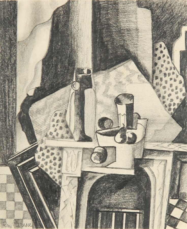 Renato Paresce - Cubist Still Life   1stdibs.com