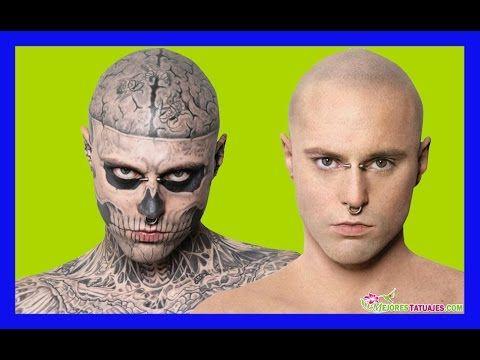 El Hombre mas Tatuado del Mundo se Maquilla | El Chico Zombie Rick Genest - YouTube